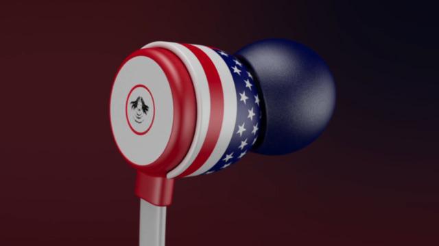 earbuds headphones product 3d rendering visualization