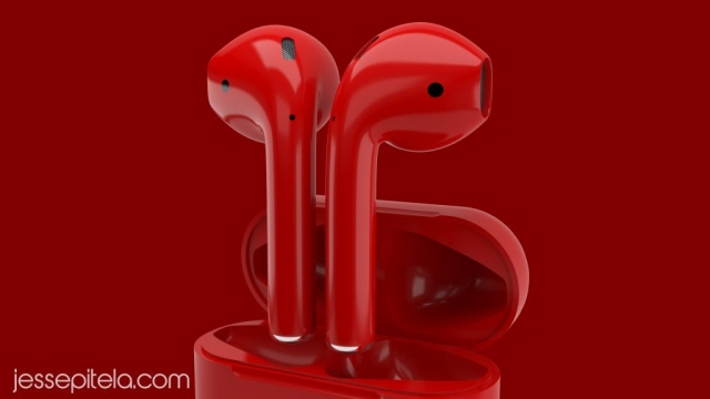 headphones earbuds product 3d rendering animation visualization