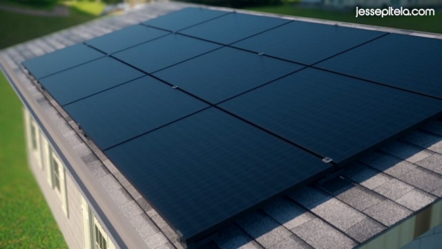 solar panel system Industrial 3D animation technical 3D visualization